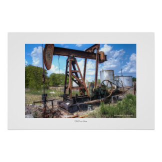 Old Pump Horse Poster