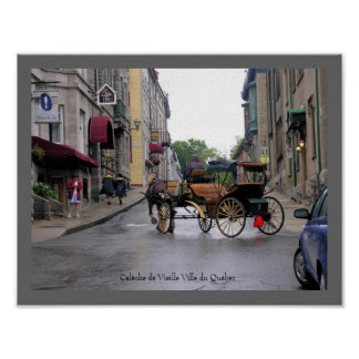 Old Québec City Horse-Drawn Carriage Posters