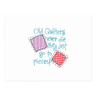 Old Quilters Postcard