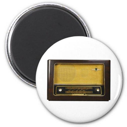 old radio 2 inch round magnet