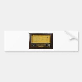 old radio bumper sticker