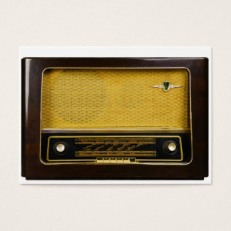 old radio business card