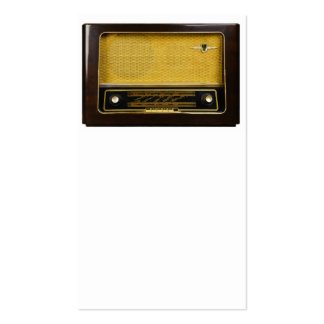 old radio business cards