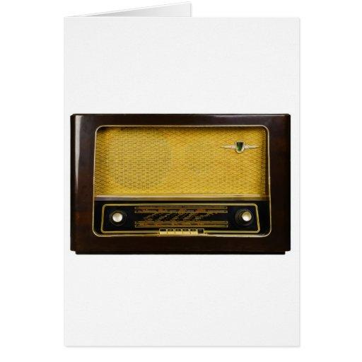 old radio greeting card