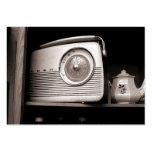 Old Radio, Mini Photo Business Cards