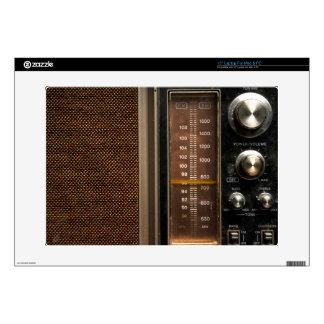 Old radio laptop skins