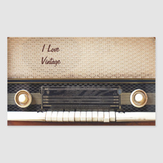 Old Radio Stickers