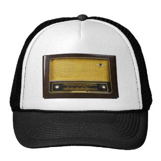 old radio trucker hat