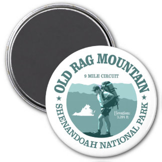 Old Rag Mountain (rd) 3 Inch Round Magnet