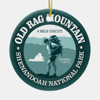 Old Rag Mountain (rd) Double-Sided Ceramic Round Christmas Ornament