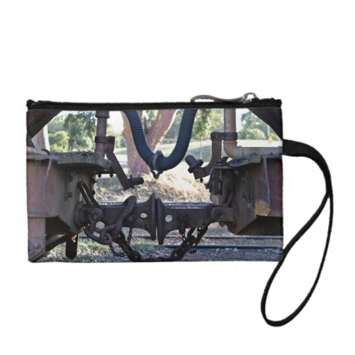 Old Railcar buffers Coin Wallets