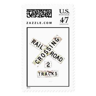 Old Railroad Crossbuck Postage