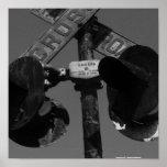 Old railroad crossing signal print