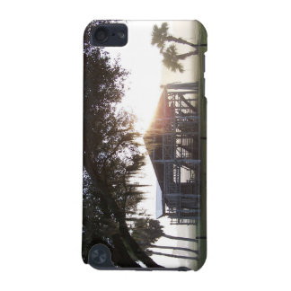 Old ranch building under trees with man statue iPod touch (5th generation) covers