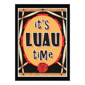 Old Rattan Retro Luau Invitations
