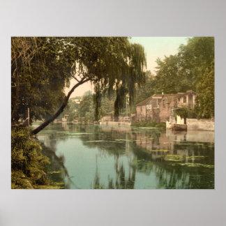 Old Reach, Thorpe, Norwich Norfolk, archival print