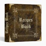 Old Recipe book 3 Ring Binders