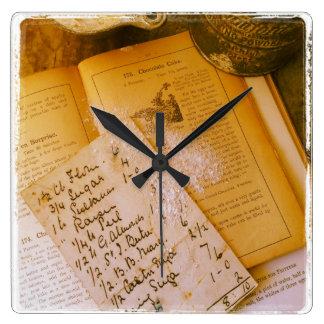 old recipes clock