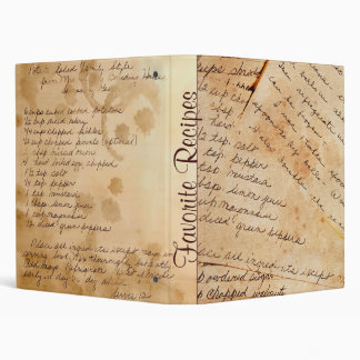 Old Recipes Cookbook 3 Ring Binder