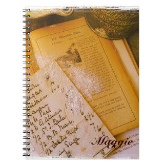 old recipes notebook