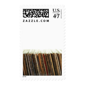 Old Records Postage Stamp