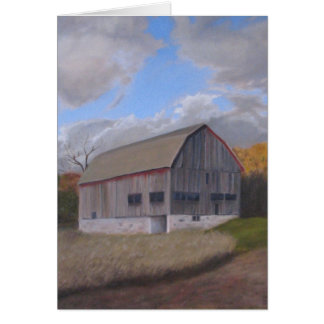 Old Red Barn Card