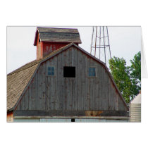 Old Red Barn Farming Note Cards