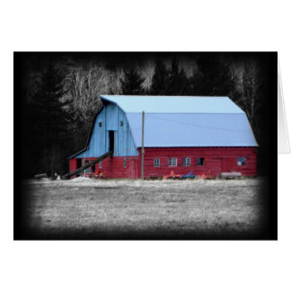 Old Red Barn in the Country Greeting Card