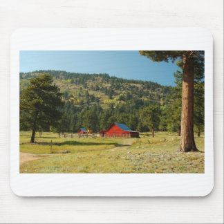 Old Red Barn Mouse Pad