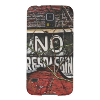 Old Red Barn No Trespassing Painting Phone Case Galaxy S5 Case