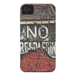 Old Red Barn & No Trespassing Sign Painting iPhone 4 Case
