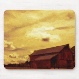 Old Red Barn Painting Mouse Pad