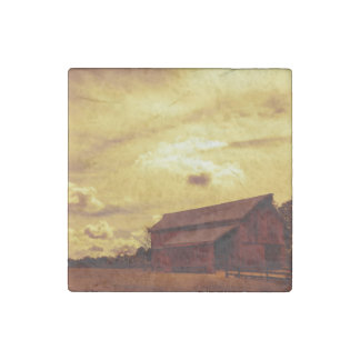 Old Red Barn Photo Stone Magnet