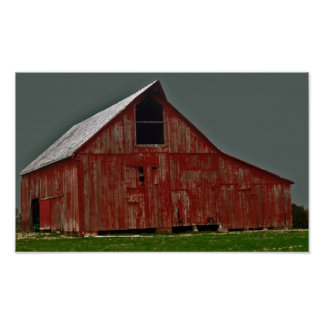 Old Red Barn Poster