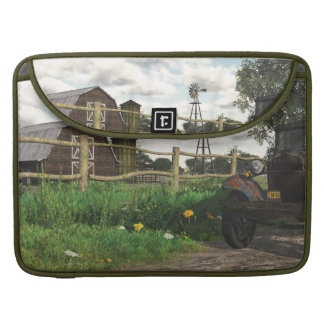 Old Red Barn & Rusty Truck Macbook Pro Sleeve
