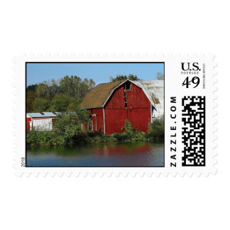 Old Red Barn Stamp