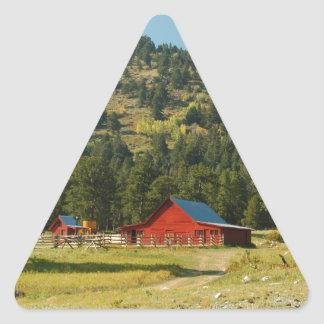 Old Red Barn Triangle Sticker