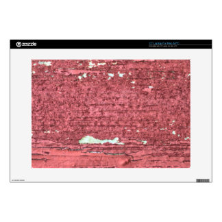 """Old Red Barn Wood Peeling Paint aged decay 15"""" Laptop Decals"""