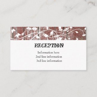 Old Red Barn Wood Reception Cards