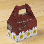 Old Red Barn Wood White Daisy Personalized Party Favor Box