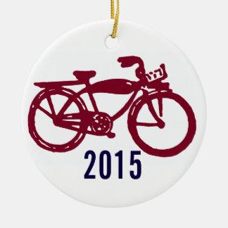 Old red bike custom ornament