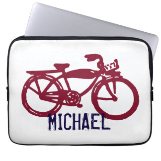 Old red bike laptop sleeve