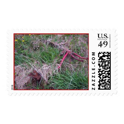 Old Red Bike Stamp