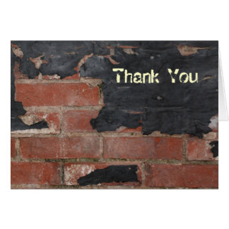 Old Red Brick Thank You Card