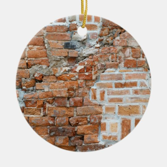 Old Red Brick Wall Ornament
