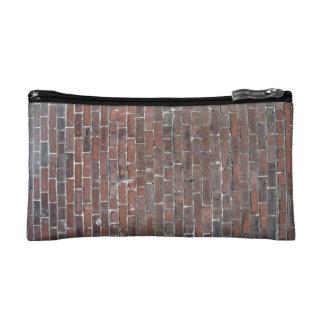Old red brick wall texture makeup bag