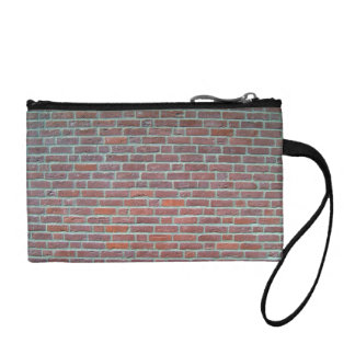 Old Red Brick Wall Texture Change Purse