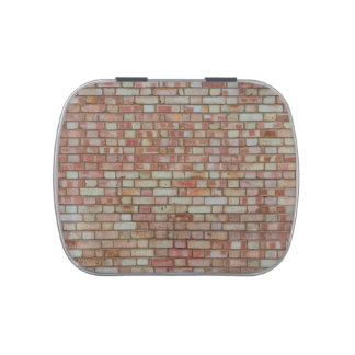 Old red brick wall texture candy tins