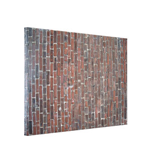 Old red brick wall texture canvas print