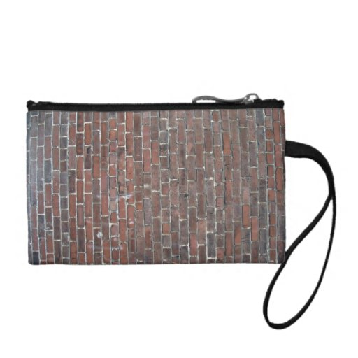 Old red brick wall texture coin wallet